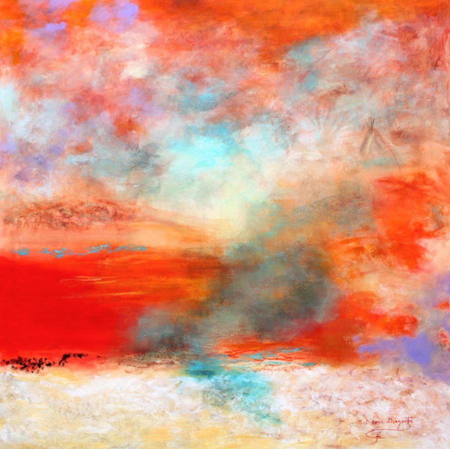 Abstract Painting - Ancient Dreams II by M Diane Bonaparte