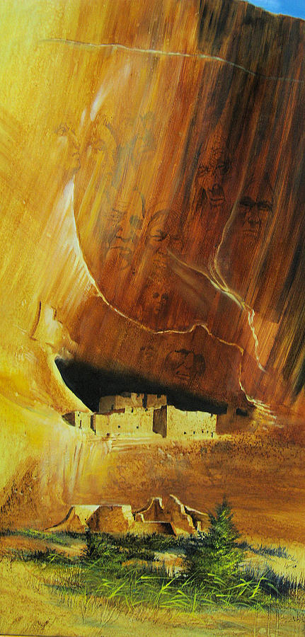 Landscape Painting - Ancient Dwellings by Robert Carver