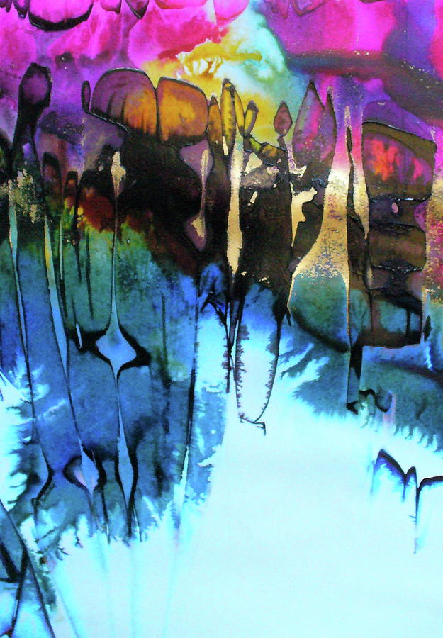 Lyrical Abstraction Painting - Ancient Echoes by Mary Sullivan