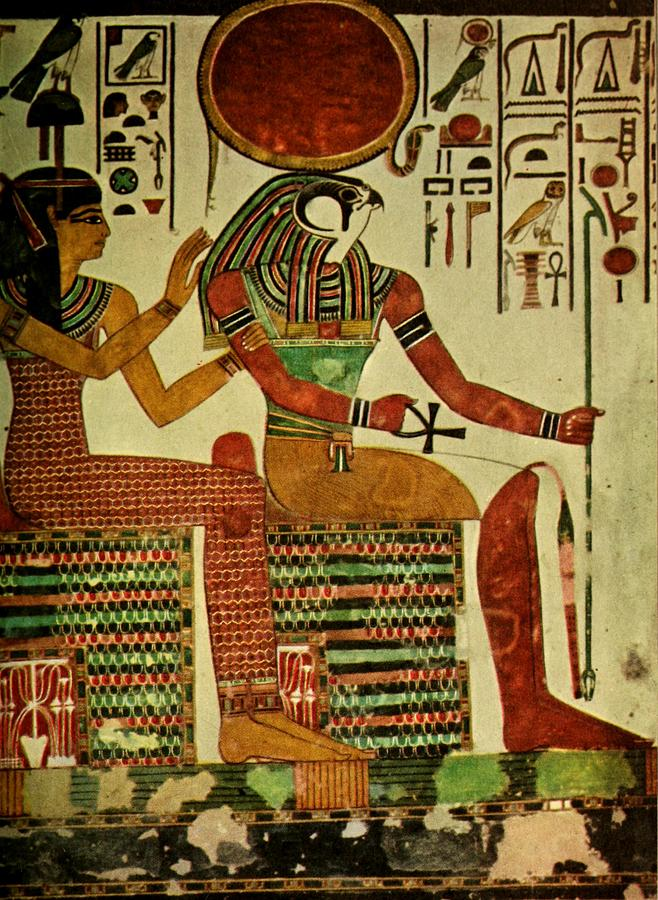 Ancient Painting   Ancient   Egyptian Wall Paintings 1956, Horus By Unknown