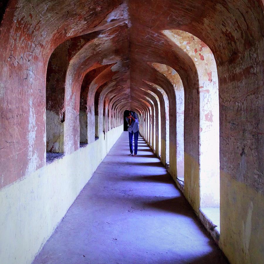 City Photograph - Ancient Gallery At Bada Imambara by Atullya N Srivastava