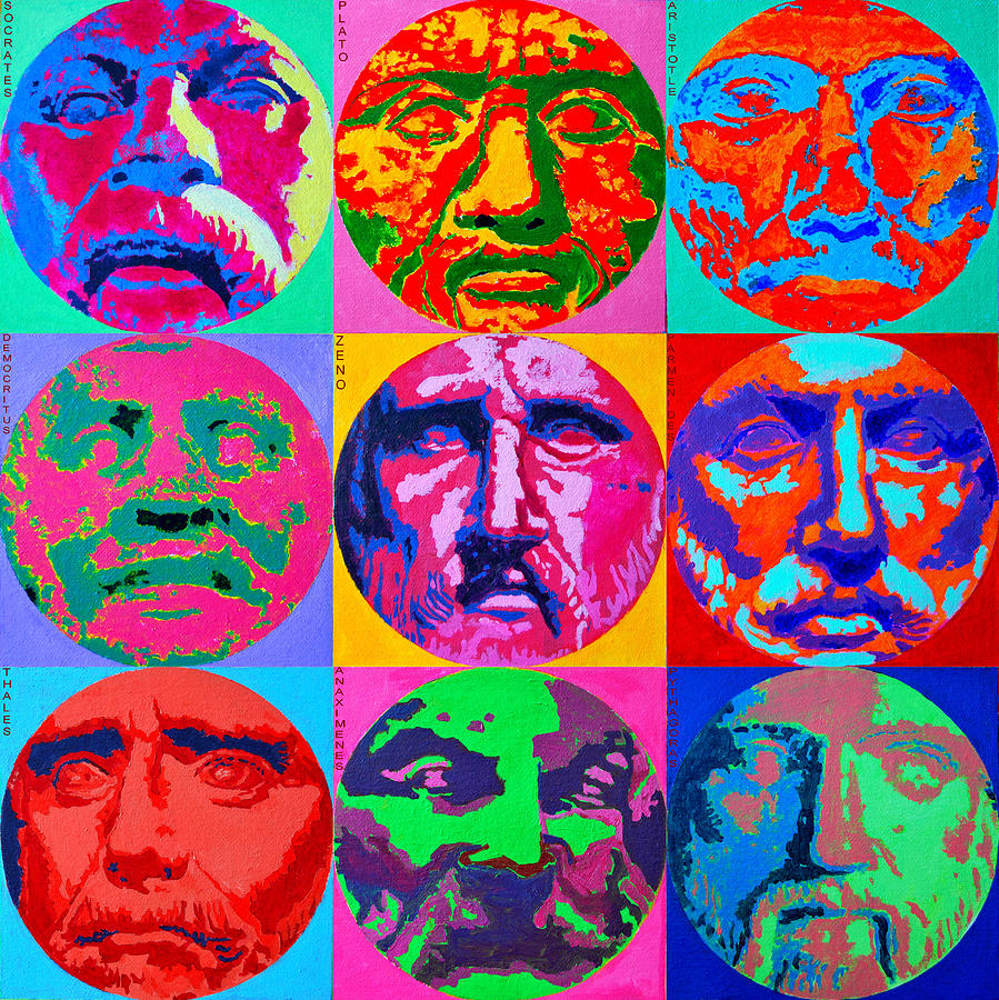 Philosopher Painting - Ancient Greek Philosophers by Ana Maria Edulescu