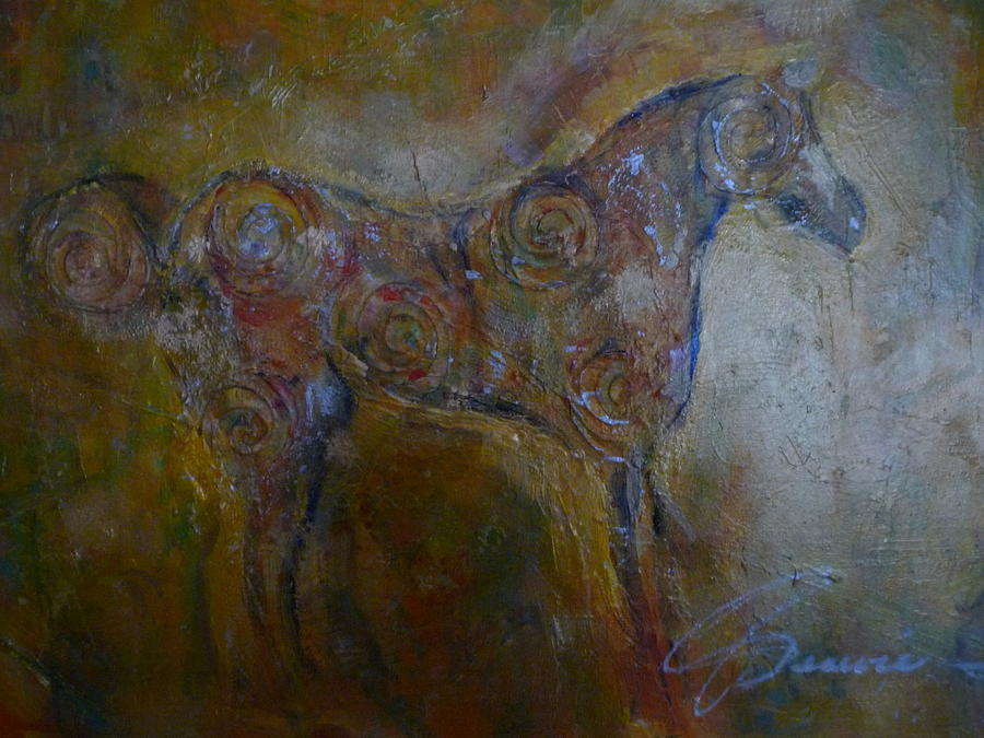 Ancient Horse Painting - Ancient Horse by Genevie Henderson
