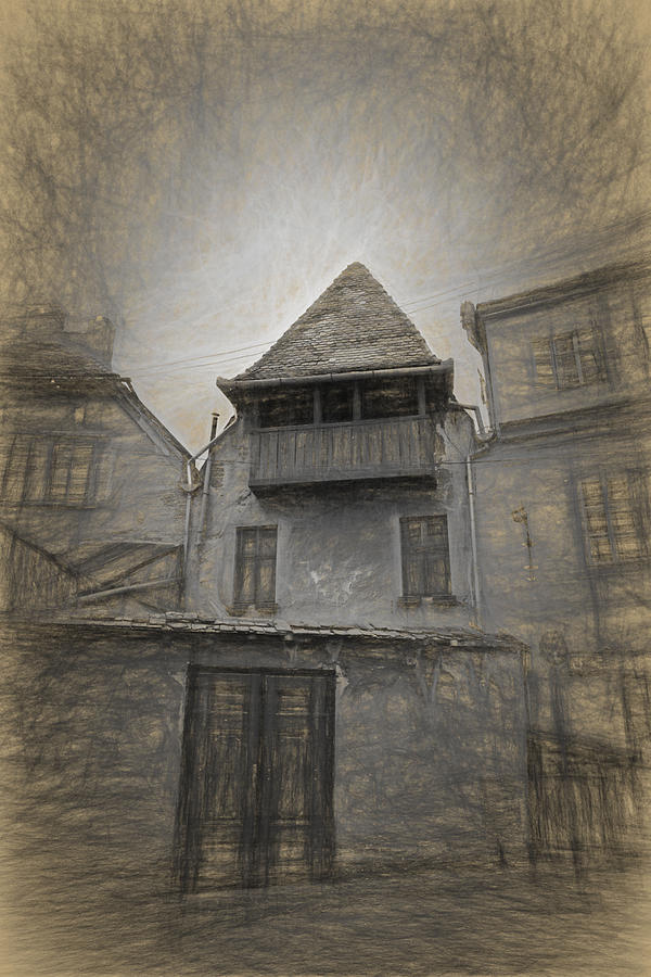 Ancient Photograph - Ancient House from Old Town Sibiu Romania by Adrian Bud
