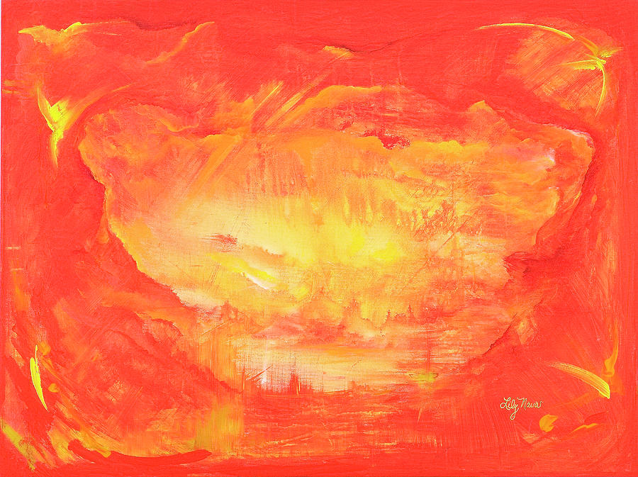 Earth Painting - Ancient Light by Lily Nava