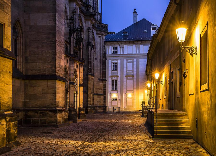 Prague Photograph - Ancient-like Dawn At Prague Castle by Marek Boguszak