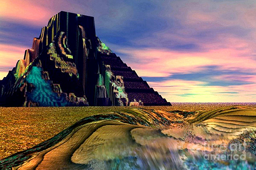 3d Digital Art - Ancient Memory Sunset On America by Rebecca Phillips