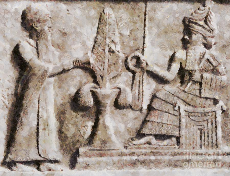 ancient mesopotamia relief by sarah kirk painting by sarah kirk