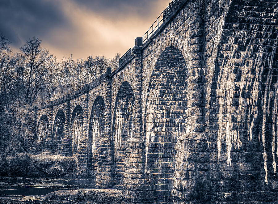 Ancient Railroad Bridge by T Brian Jones