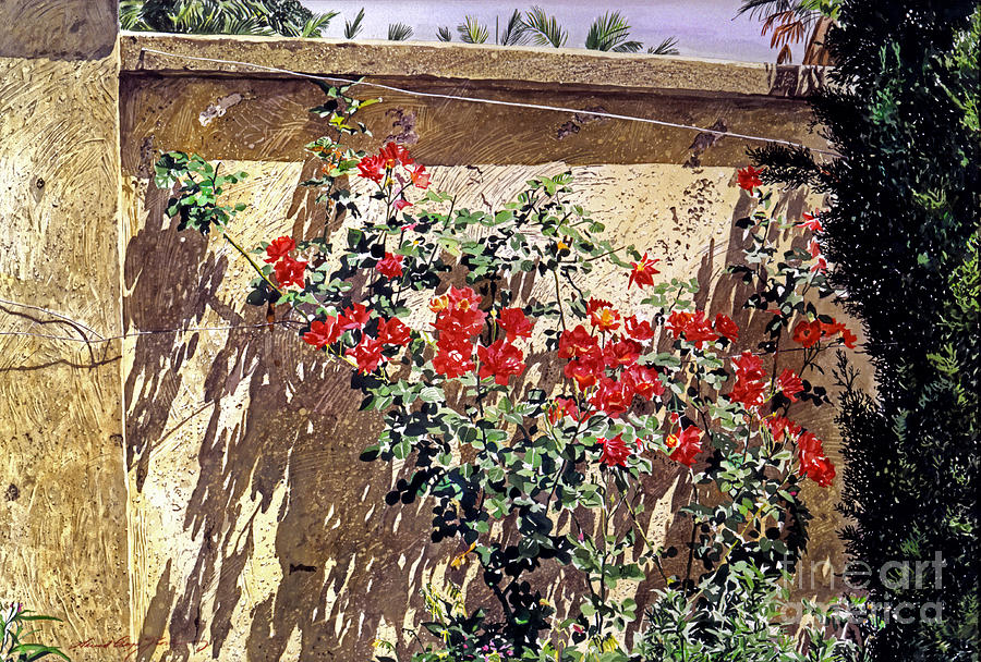 Flowers Painting - Ancient Roses by David Lloyd Glover