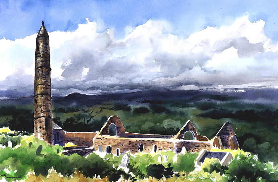 Landscape Painting - Ancient Ruins by John Fitzgibbon