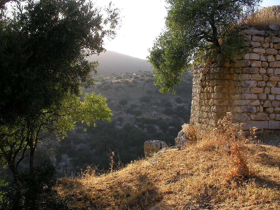 Ruins Photograph - Ancient Ruins With An Older View by Yonatan Frimer Maze Artist