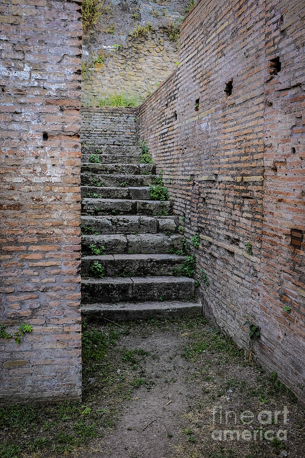 Staircase Photograph - Ancient Stairs Rome Italy by Edward Fielding