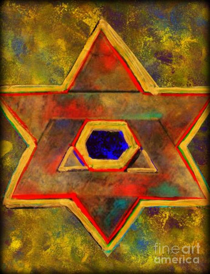 Star Of David Painting - Ancient Star by Wbk