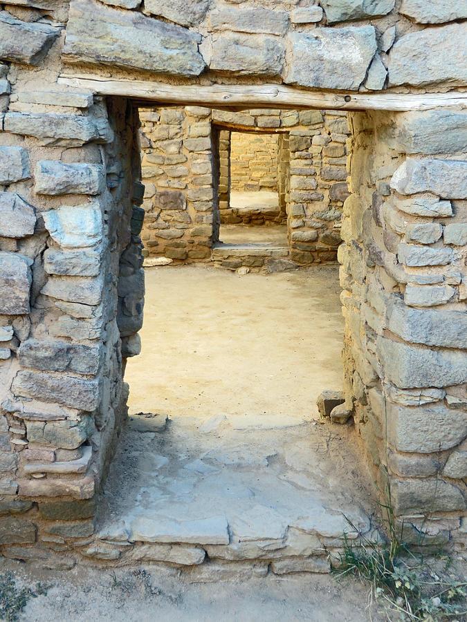 Ancient Stone Doorways of Aztec Ruins, NM by Elizabeth Rose