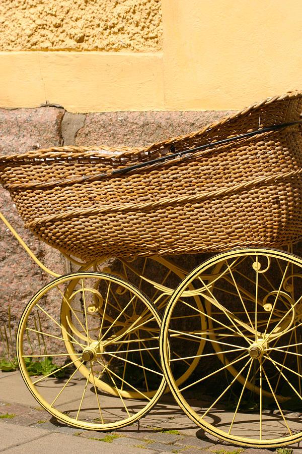 Baby Photograph - Ancient Swedish Baby Carriage by Dagmar Batyahav