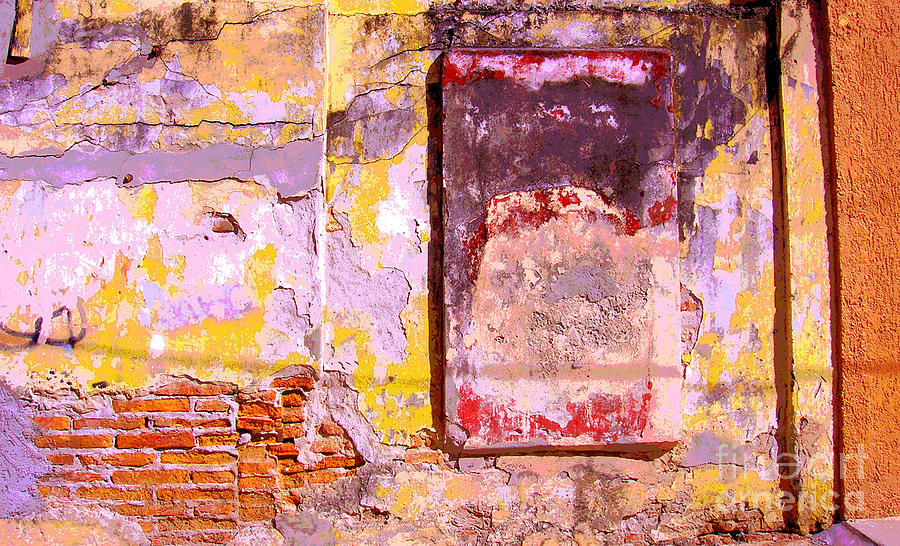 Michael Fitzpatrick Photograph - Ancient Wall 7 By Michael Fitzpatrick by Mexicolors Art Photography