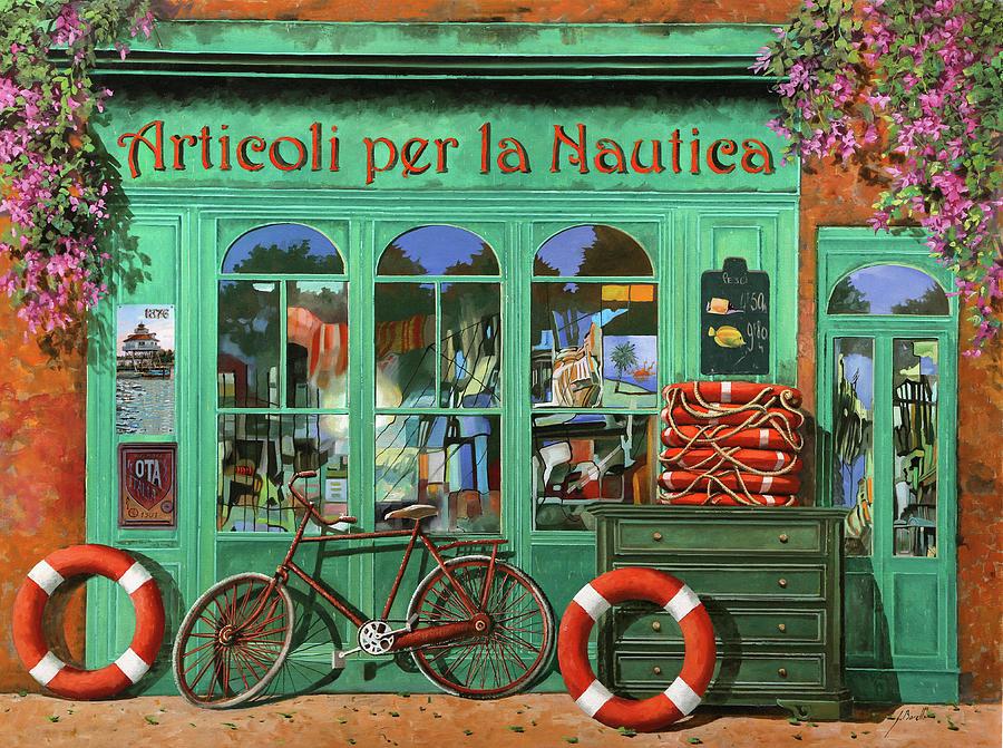 Ancora Una Bicicletta Rossa Painting