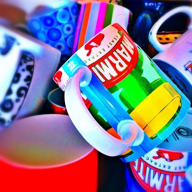 Colour Photograph - And A Jumble Of Mugs.... #mugs #jumble by Mark  Thornton