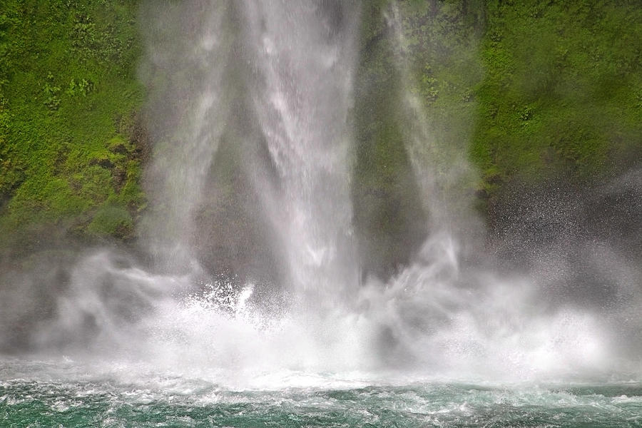Waterfall Photograph - And Down Comes The Water by Betsy Knapp