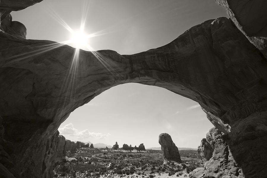 Arches Photograph - And Ill Hide From The World Behind A Broken Frame by Mike McMurray