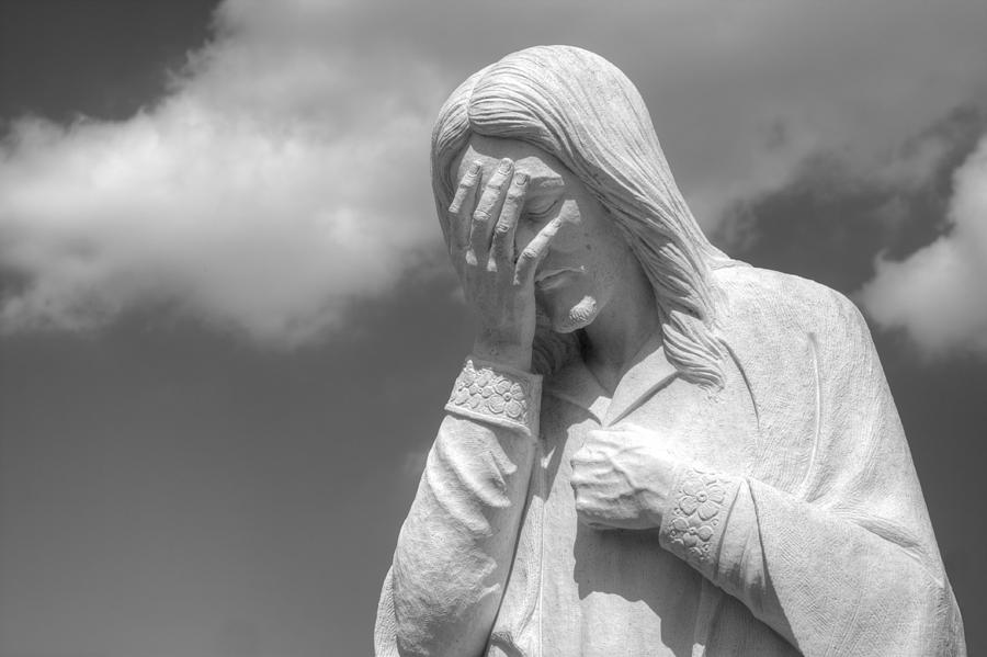 Building Photograph - And Jesus Wept II by Ricky Barnard