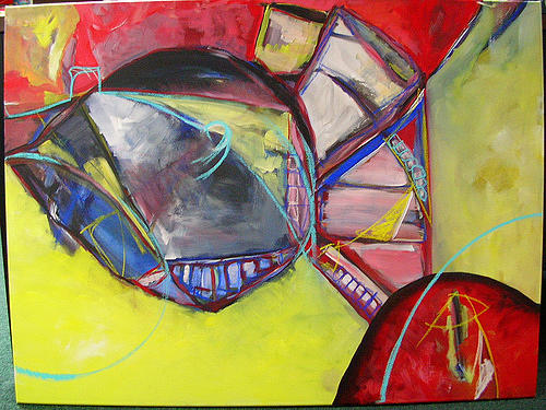 Abstract Painting - And Still My Heart It Beats by Karen Geiger