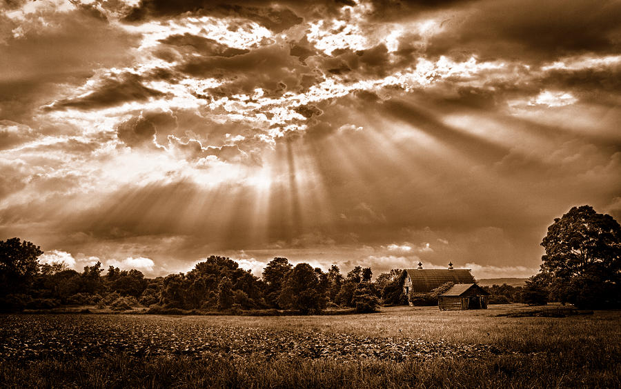 Barn Photograph - And The Heavens Opened 3 by Mark Fuller