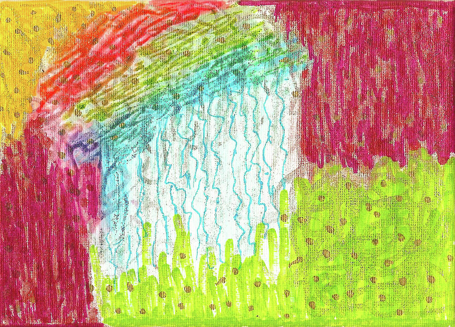 Mixed Media Painting - And The Rain Came by Susan Schanerman