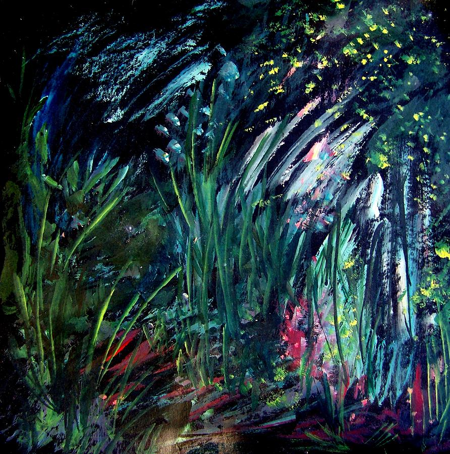 Painting Painting - And The Weeds Grow by Ellen Seymour