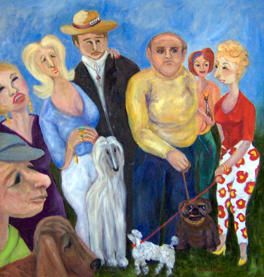 People Painting - And the Winner is............ by Lorna Skeie