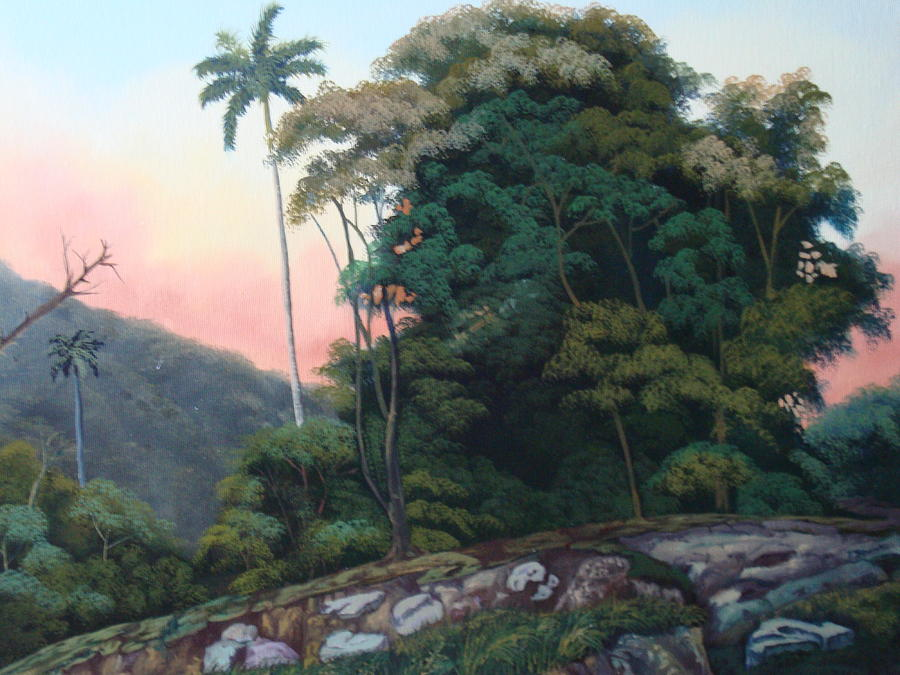 Cuban Landscape Painting - ...and Then What by Carlos Rodriguez Yorde