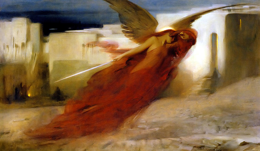 Passover Painting - And There Was A Great Cry In Egypt by Arthur Hacker