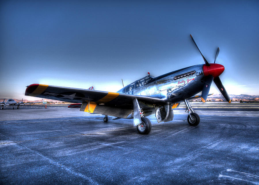 And Who Could Forget Betty Jean.  P51c Nl25imx  Photograph by John King