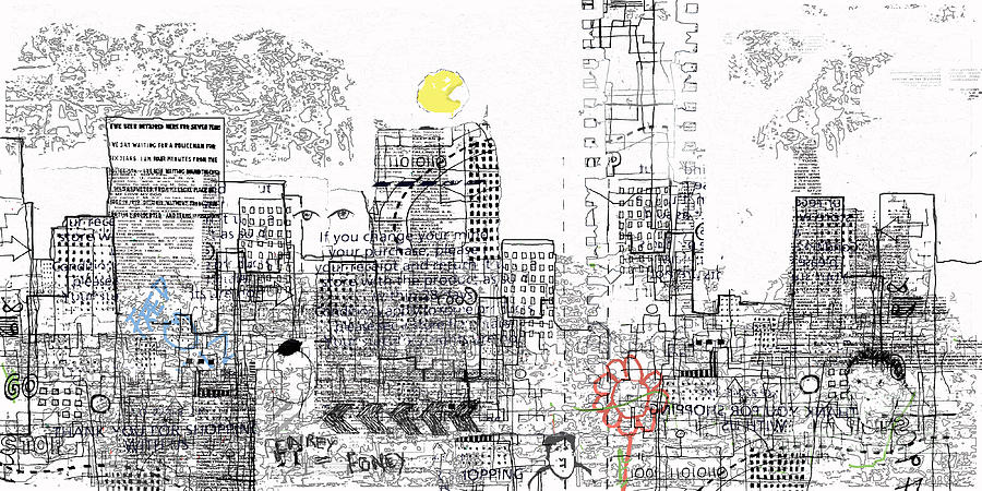City Drawing - And Who Takes Notice 2 by Andy  Mercer
