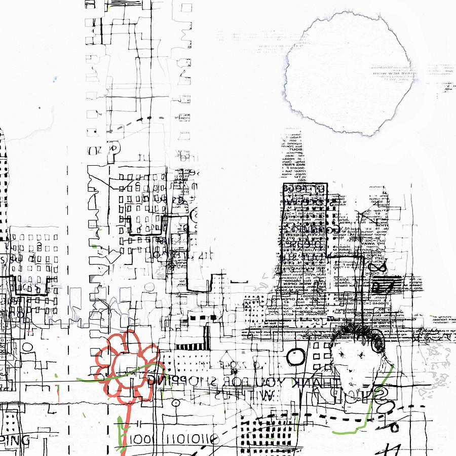 Urban Drawing - And Who Took Notice by Andy  Mercer