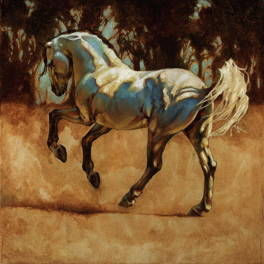 Horse Painting - Andalusian Dance I by Heather Theurer