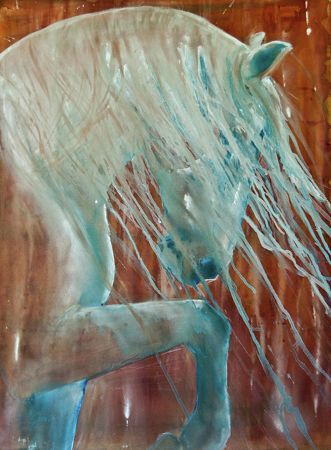 Horse Painting - Andalusian Stallion by Jani Freimann