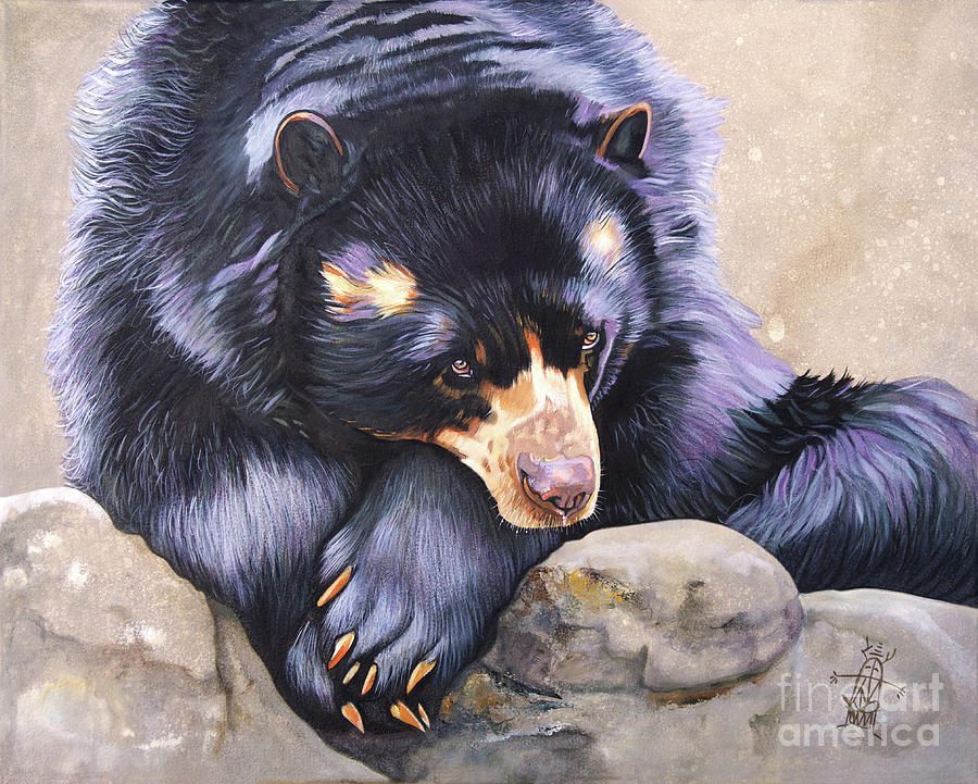 Andean Bear / Spectacled Bear/ Andean Short-Faced Bear by J W Baker