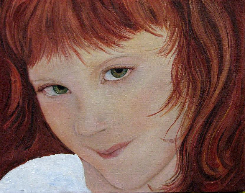 Portrait Painting - Andee by Aimee Vance