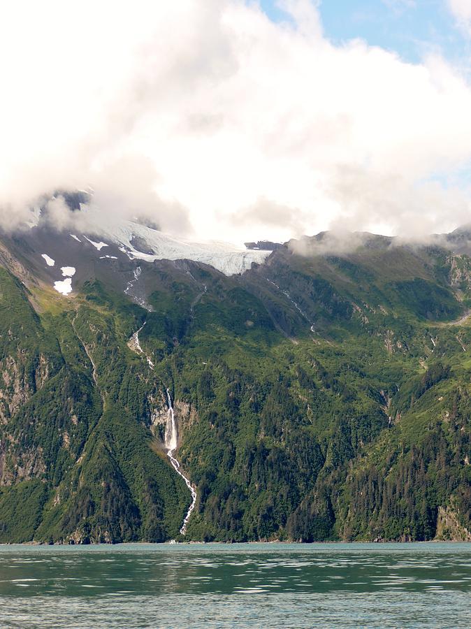 Water Photograph - Anderson Falls Valdez, Alaska by Denise   Hoff