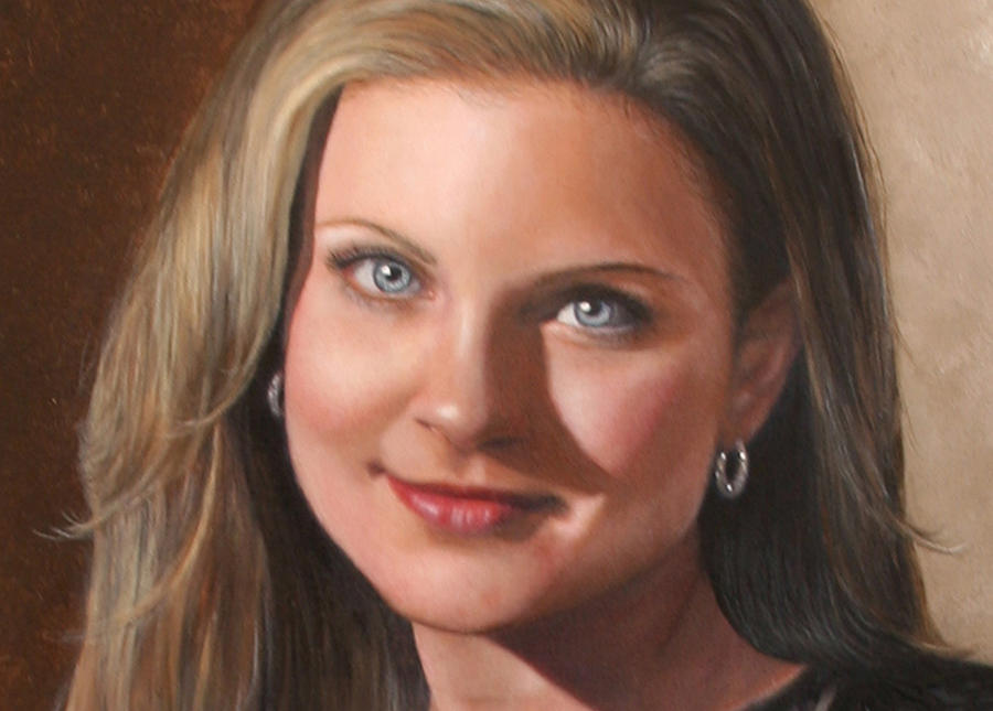 Custom Portrait Painting - Anderson Painting Example Lb by Shirley Catherine Anderson