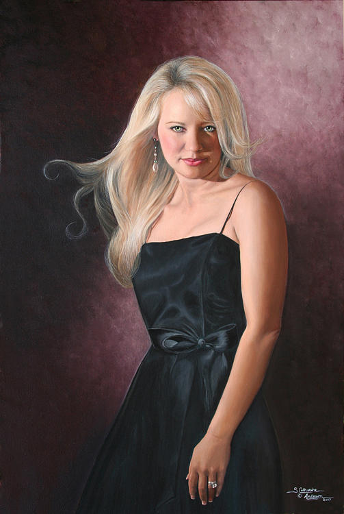 Custom Portrait Painting - Anderson Painting Example Sr 2 by Shirley Catherine Anderson