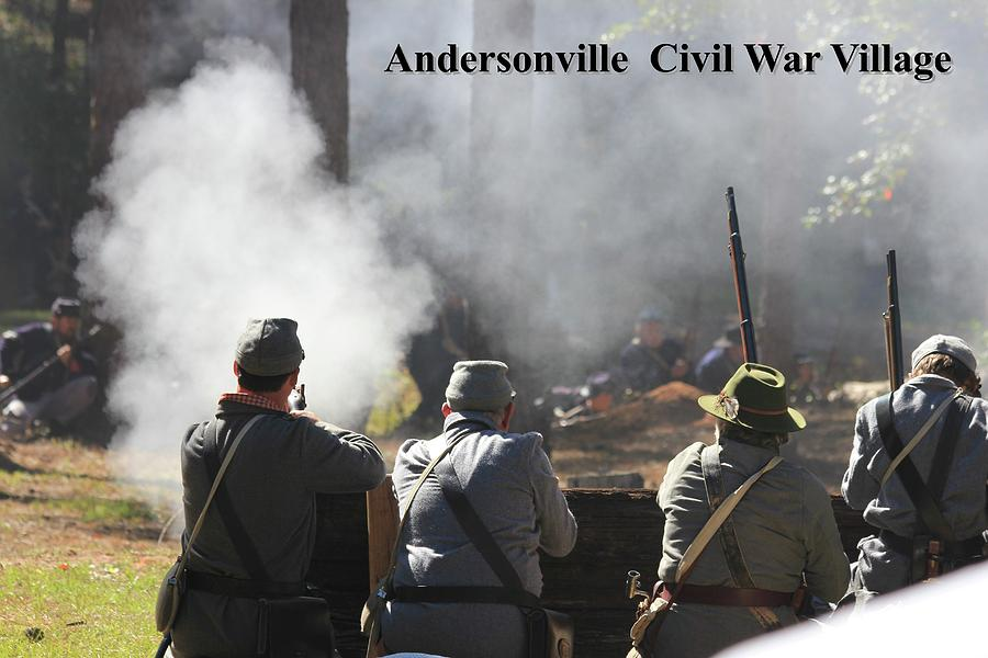 Andersonville Photograph - Andersonville Civil War Village by Jerry Battle