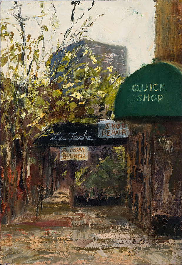 Chicago Cityscape Painting - Andersonville In Miniature by Nancy Albrecht