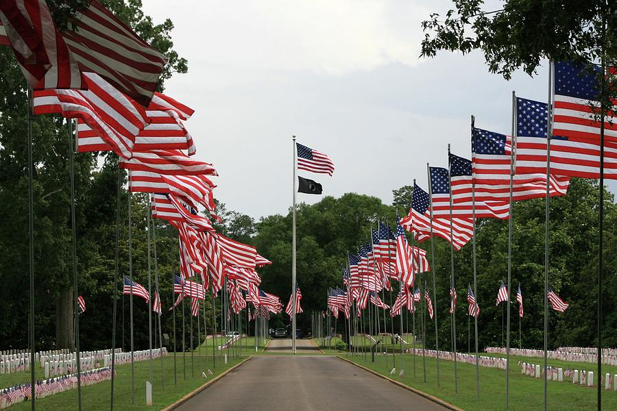 Andersonville Ga Photograph - Andersonville National Cemetery by Jerry Battle