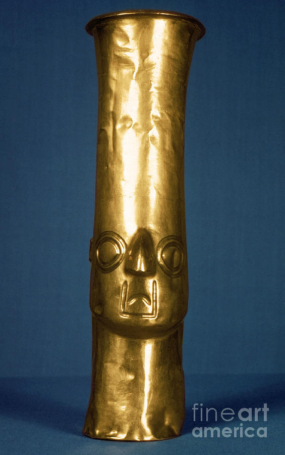 1400 Photograph - Andes: Gold Effigy, 1400 by Granger
