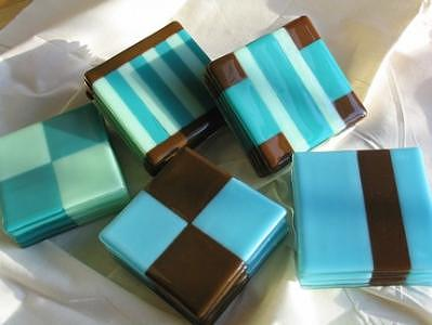 Fused Glass Glass Art - Andes Mints by Sarah Merrion