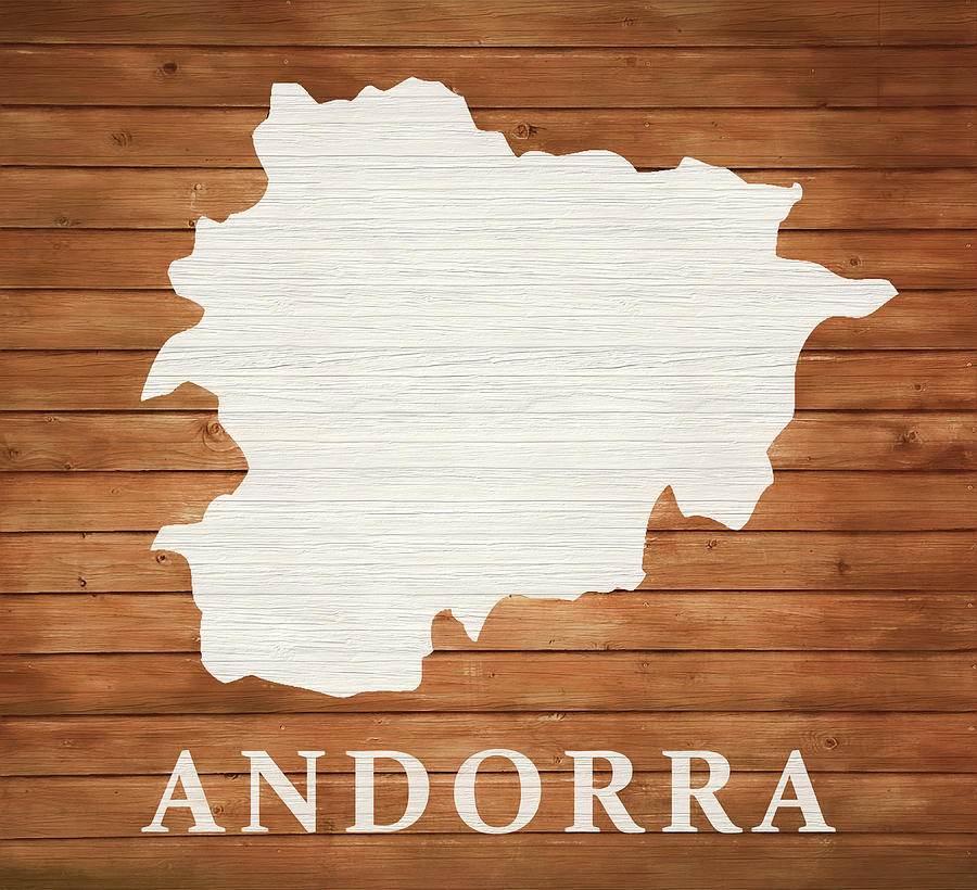 Map Mixed Media - Andorra Rustic Map On Wood by Dan Sproul