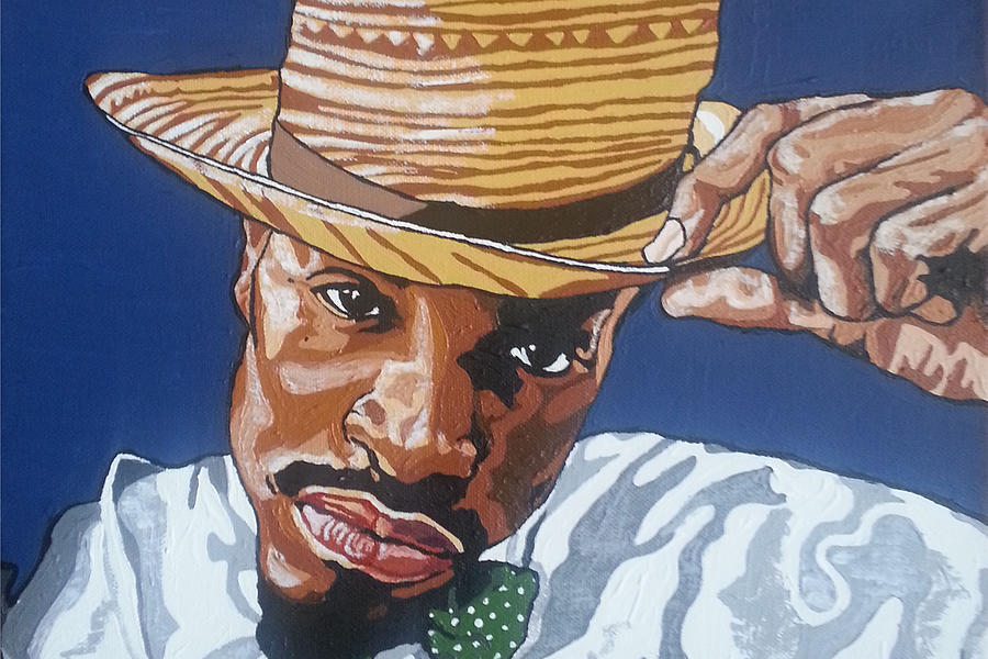 Andre 3000 Painting - Andre Benjamin by Rachel Natalie Rawlins